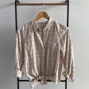 Madewell multi color tattersall plaid